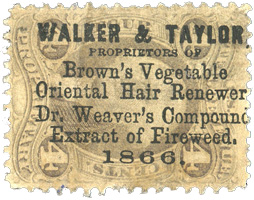 Extremely rare Walker & Taylor Proprietary Cancel